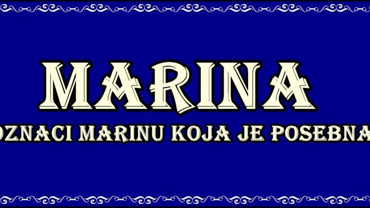 Prema značenju ime MARINA nosi žena koja je TAJNA i koja se poredi sa morskom sirenom!
